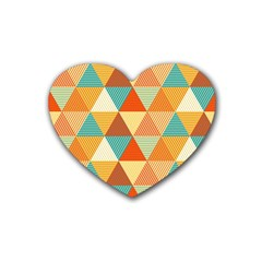Triangles Pattern  Rubber Coaster (Heart)