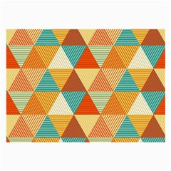 Triangles Pattern  Large Glasses Cloth