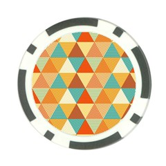 Triangles Pattern  Poker Chip Card Guard