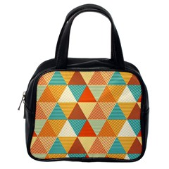 Triangles Pattern  Classic Handbags (One Side)