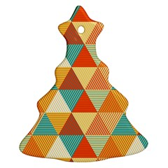 Triangles Pattern  Christmas Tree Ornament (Two Sides)