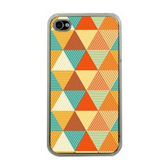 Triangles Pattern  Apple iPhone 4 Case (Clear)