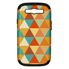 Triangles Pattern  Samsung Galaxy S III Hardshell Case (PC+Silicone)