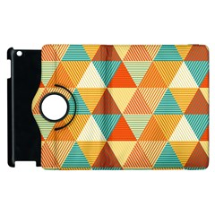Triangles Pattern  Apple iPad 3/4 Flip 360 Case