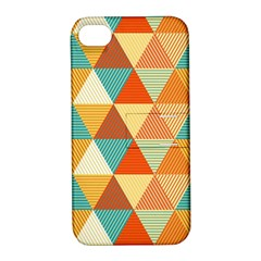 Triangles Pattern  Apple iPhone 4/4S Hardshell Case with Stand