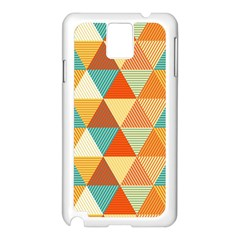 Triangles Pattern  Samsung Galaxy Note 3 N9005 Case (White)