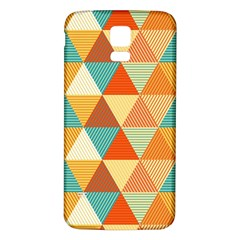 Triangles Pattern  Samsung Galaxy S5 Back Case (White)