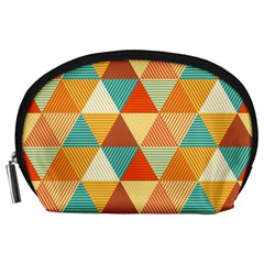 Triangles Pattern  Accessory Pouches (Large)