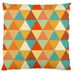Triangles Pattern  Large Flano Cushion Case (Two Sides)