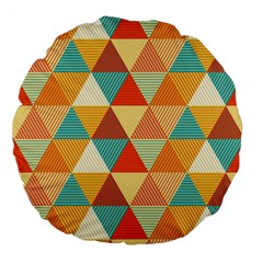 Triangles Pattern  Large 18  Premium Flano Round Cushions