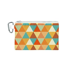 Triangles Pattern  Canvas Cosmetic Bag (S)