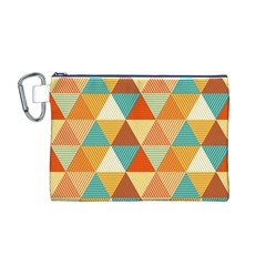 Triangles Pattern  Canvas Cosmetic Bag (M)