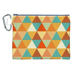Triangles Pattern  Canvas Cosmetic Bag (XXL)