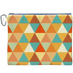 Triangles Pattern  Canvas Cosmetic Bag (XXXL)