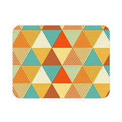 Triangles Pattern  Double Sided Flano Blanket (Mini)