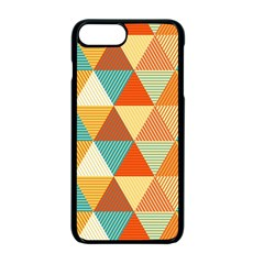 Triangles Pattern  Apple Iphone 7 Plus Seamless Case (black)