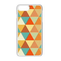 Triangles Pattern  Apple Iphone 7 Plus White Seamless Case