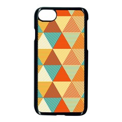 Triangles Pattern  Apple Iphone 7 Seamless Case (black)