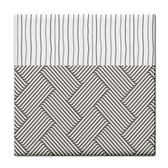 Lines and stripes patterns Tile Coasters