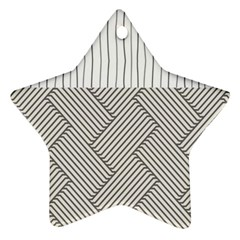 Lines and stripes patterns Ornament (Star)