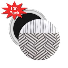 Lines and stripes patterns 2.25  Magnets (100 pack)