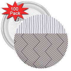 Lines and stripes patterns 3  Buttons (100 pack)