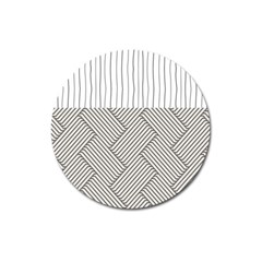 Lines and stripes patterns Magnet 3  (Round)