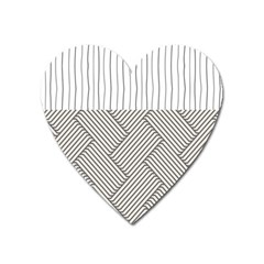 Lines and stripes patterns Heart Magnet