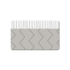 Lines and stripes patterns Magnet (Name Card)