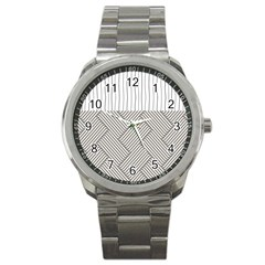 Lines and stripes patterns Sport Metal Watch