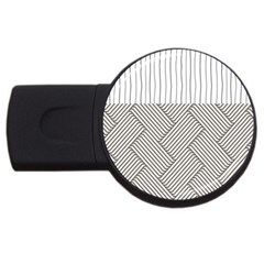 Lines and stripes patterns USB Flash Drive Round (4 GB)