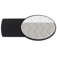 Lines and stripes patterns USB Flash Drive Oval (4 GB)