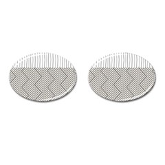 Lines and stripes patterns Cufflinks (Oval)