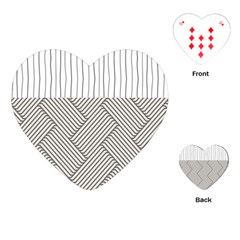 Lines and stripes patterns Playing Cards (Heart)