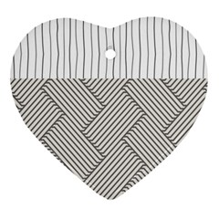 Lines and stripes patterns Heart Ornament (Two Sides)