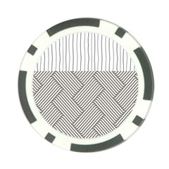 Lines and stripes patterns Poker Chip Card Guard
