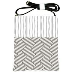 Lines and stripes patterns Shoulder Sling Bags