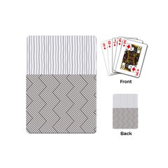 Lines and stripes patterns Playing Cards (Mini)