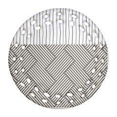 Lines and stripes patterns Ornament (Round Filigree)
