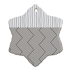 Lines and stripes patterns Snowflake Ornament (Two Sides)