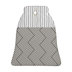 Lines and stripes patterns Bell Ornament (Two Sides)
