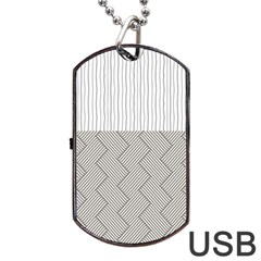 Lines and stripes patterns Dog Tag USB Flash (Two Sides)