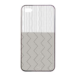 Lines and stripes patterns Apple iPhone 4/4s Seamless Case (Black)