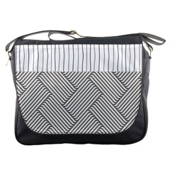 Lines and stripes patterns Messenger Bags