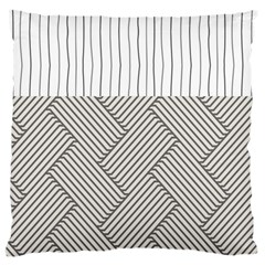 Lines and stripes patterns Large Cushion Case (One Side)