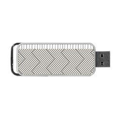 Lines and stripes patterns Portable USB Flash (One Side)