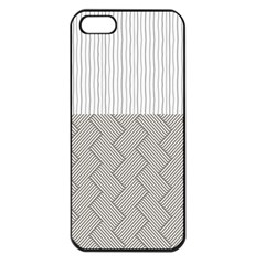 Lines and stripes patterns Apple iPhone 5 Seamless Case (Black)