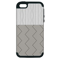 Lines and stripes patterns Apple iPhone 5 Hardshell Case (PC+Silicone)