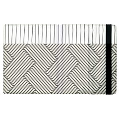 Lines and stripes patterns Apple iPad 2 Flip Case