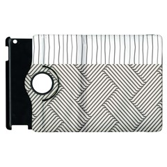 Lines and stripes patterns Apple iPad 3/4 Flip 360 Case